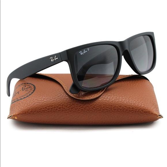 bf627f98bd Rayban  Justin  Sunglasses Matte Black 55mm. M 5ae6c086caab44b4452d3460